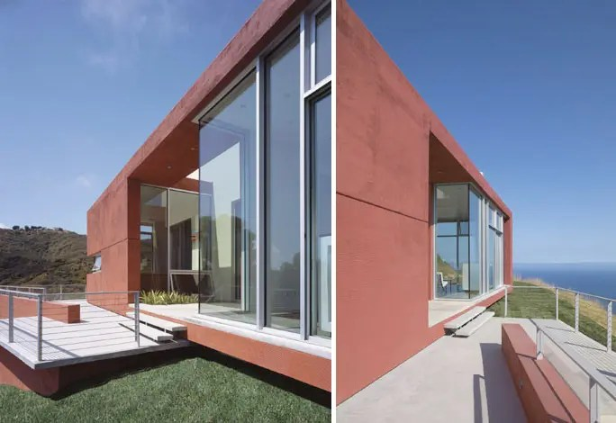 Brick Red Environment Friendly Malibu House By Kanner