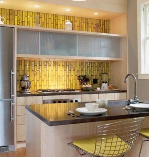 Green Design Kitchen Tiles