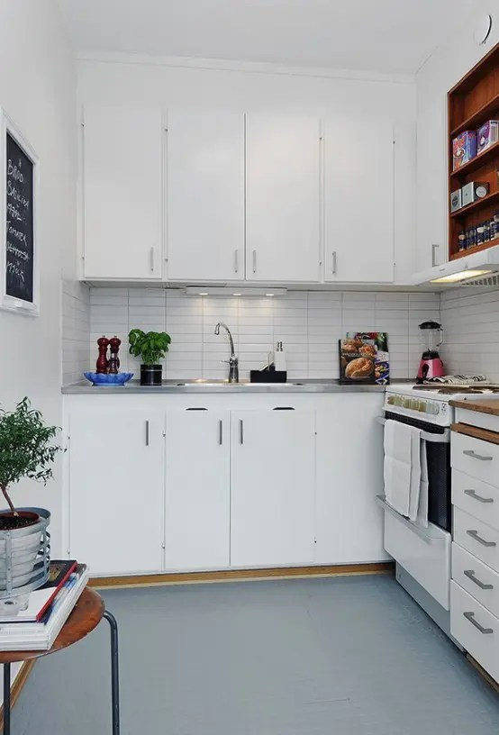 L Shaped Kitchen Cupboards