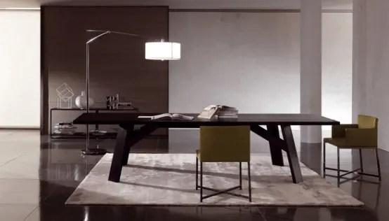Elegant Dark Wooden Table Clark By Minotti Digsdigs