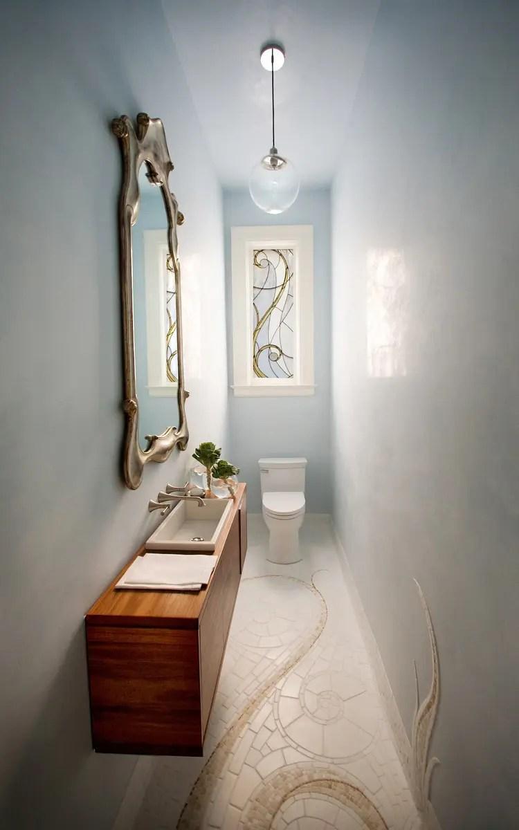Small And Elegant Powder Room Design Digsdigs