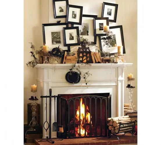 70 Great Halloween Mantel Decorating Ideas   DigsDigs Halloween Mantel Decorating Ideas