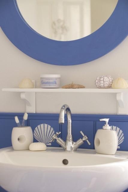 Navy Blue Bath Accessories