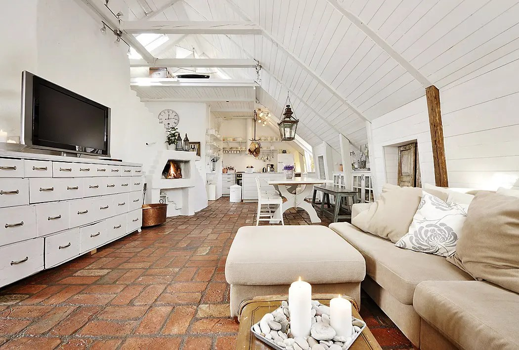 Stunning Attic Apartment In Modern And Shabby Chic Styles ...