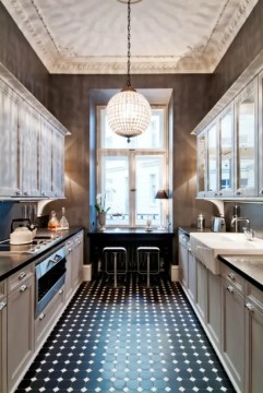 31 Stylish And Functional Super Narrow Kitchen Design Ideas   DigsDigs Stylish And Functional Super Narrow Kitchen Design Ideas