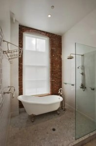 39 Stylish Bathrooms With Brick Walls And Ceilings   DigsDigs Stylish Bathrooms With Brick Walls And Ceilings