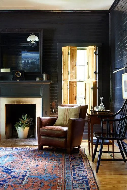 36 Stylish Dark Living Room Designs Digsdigs