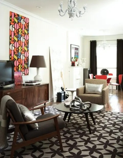 Brown Living Schemes Room Furniture Color