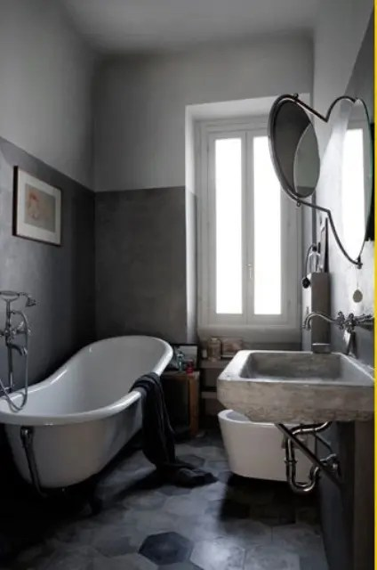 Bathroom Decor Grey And White