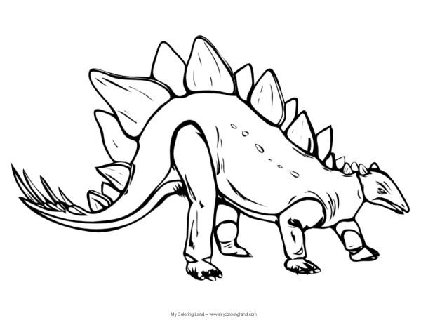 stegosaurus coloring page # 17