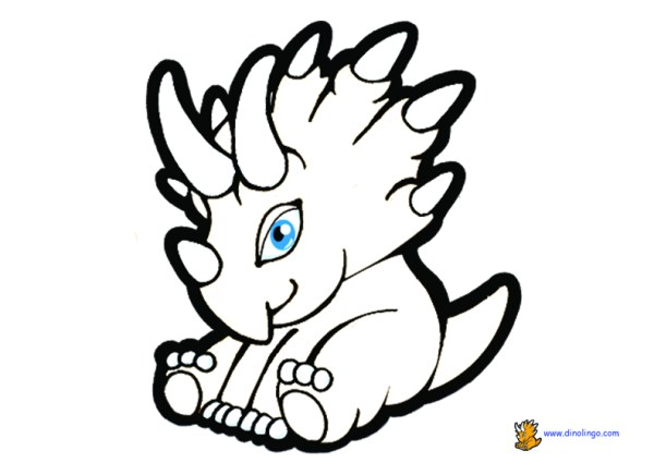 baby dinosaur coloring pages # 17