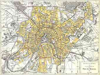 Historical map prints of Moscow                            Moskva  in Russia for sale     Moscow                            Moskva   city map  in French   1897