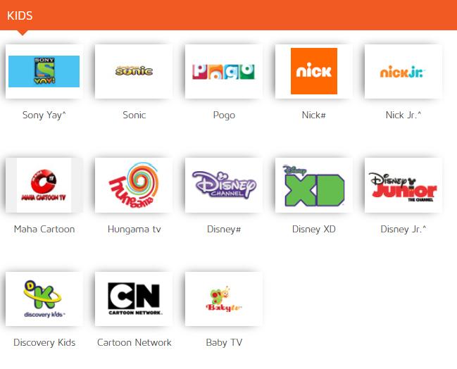 Dish Basic Channels List