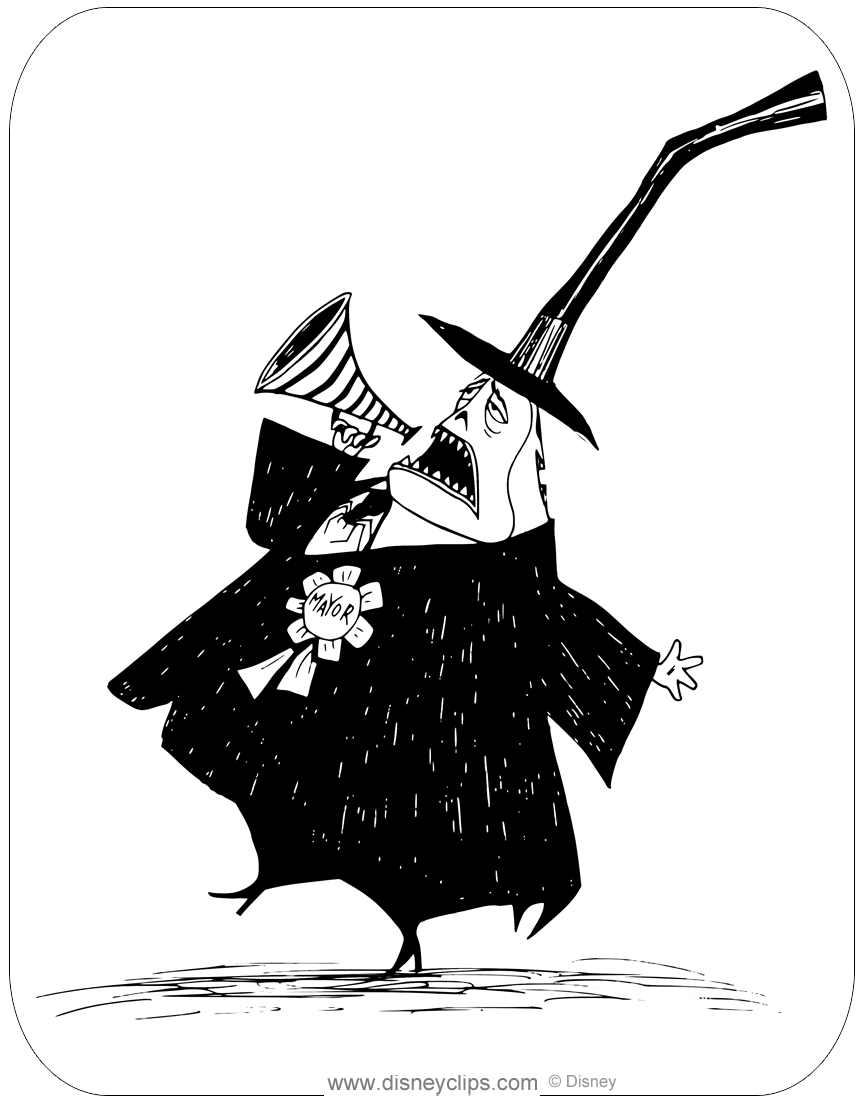 Nightmare Christmas Town Coloring Pages