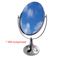 Double side oval mirror with trumpet base