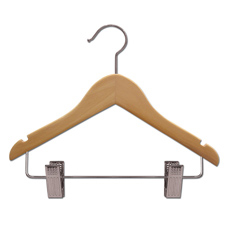 "11"" Flat children wood hanger"