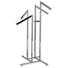 4-Way rack with slanted blade arms
