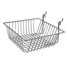 Small wire basket chrome finish