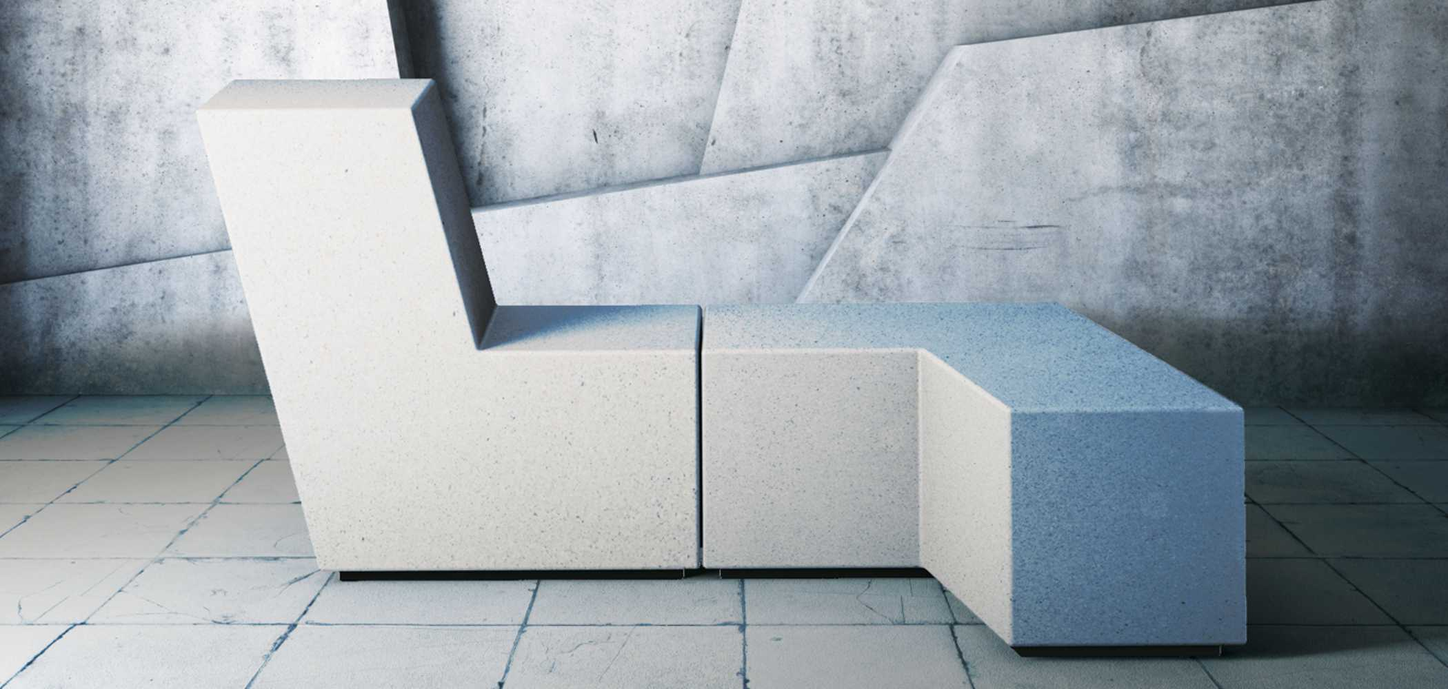 Up Monolithic Modular Bench Disseturban