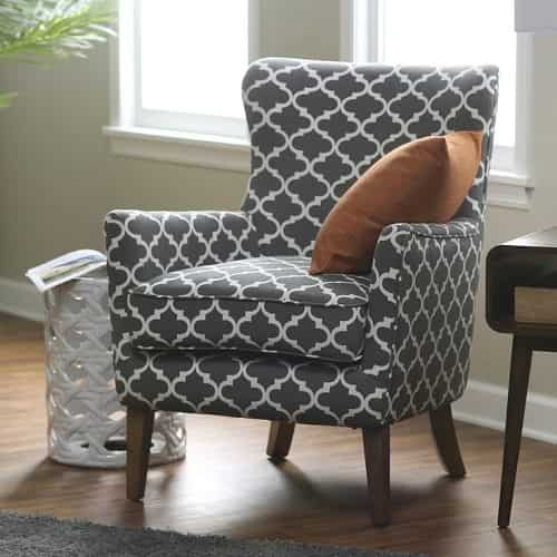 Patterned Chairs Living Room
