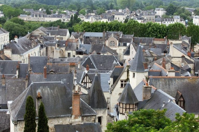 The medieval city of Chinon - Rooftops