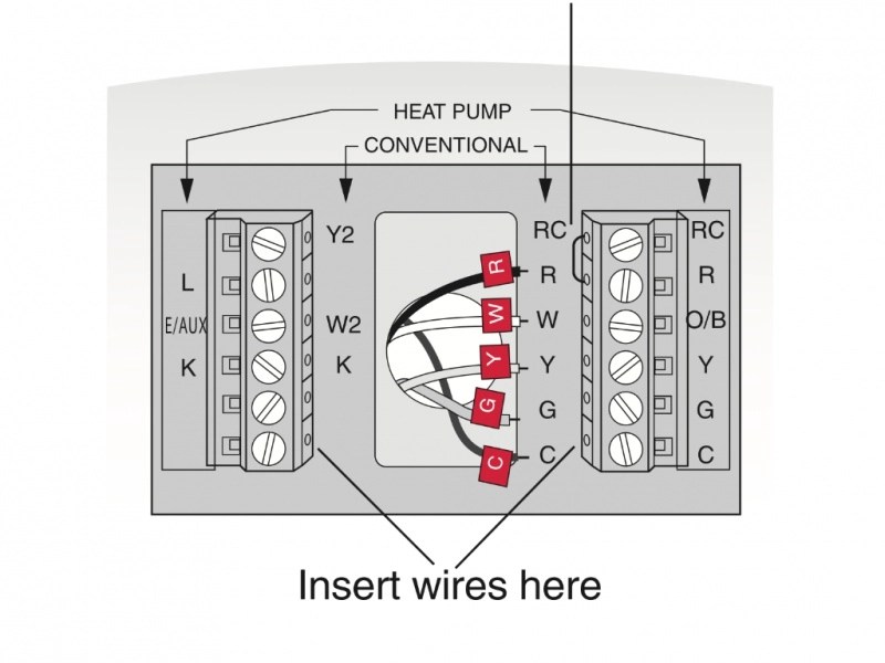 Thermostat Diagram Furnace Wiring