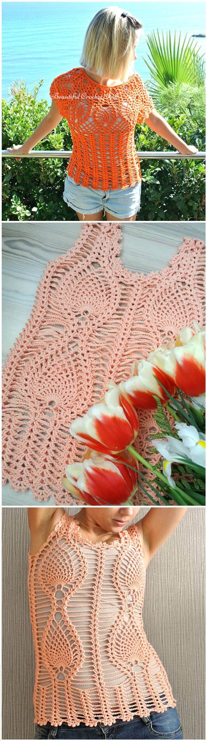50 Quick Amp Easy Crochet Summer Tops Free Patterns