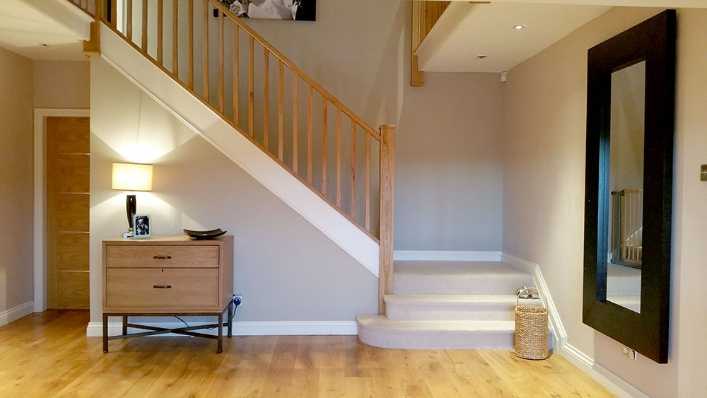 Staircase Parts Type Of Stairs Staircase Terminology Stair | Double Winder Staircase Design | Handrail | Attic | Bespoke Staircase | Medium Oak | Small Space