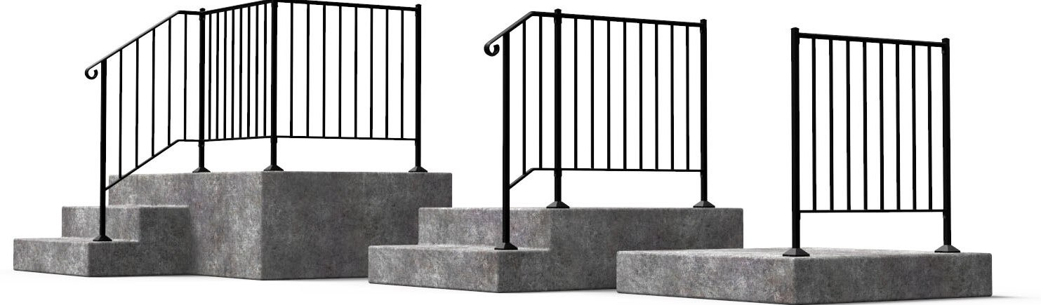 Shop Diy Wrought Iron Handrail Handrails For Indoor Outdoor Steps   Outside Metal Railings For Steps   Galvanized Iron   Wrought Iron Staircase Used   Decorative Iron Stair Rail Support   Steel Railing   Mixed