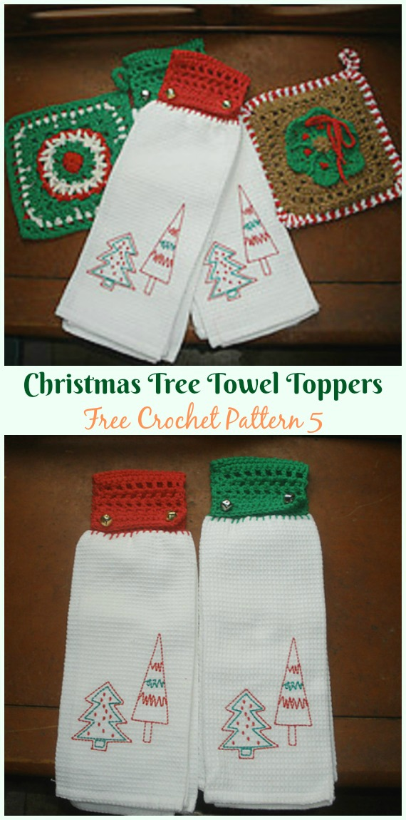 Patterns Crochet Poinsettia Towel Toppers Christmas