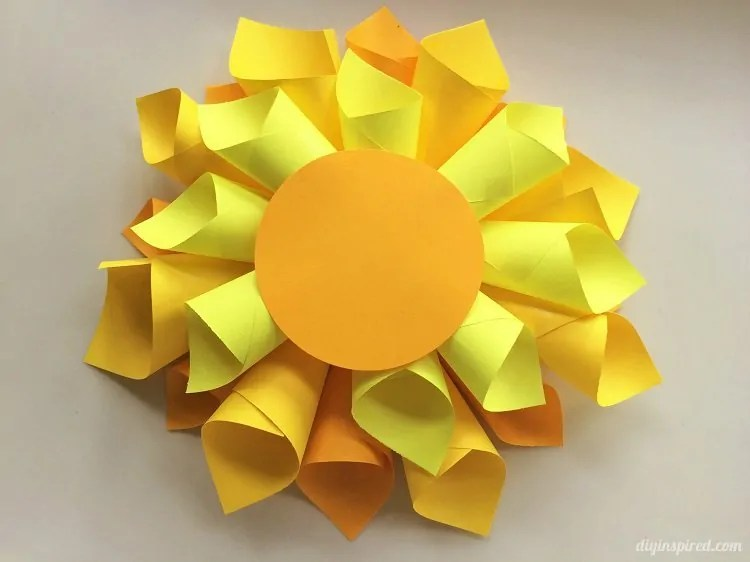 DIY Paper Flower Craft   DIY Inspired DIY Paper Flower Craft