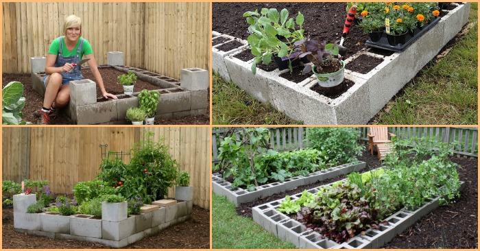 Homemade Raised Garden