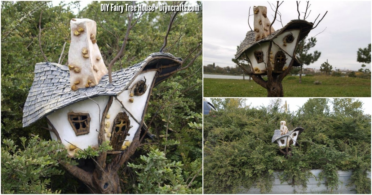 How To Create An Enchanting Fairy Garden Tree House Out Of