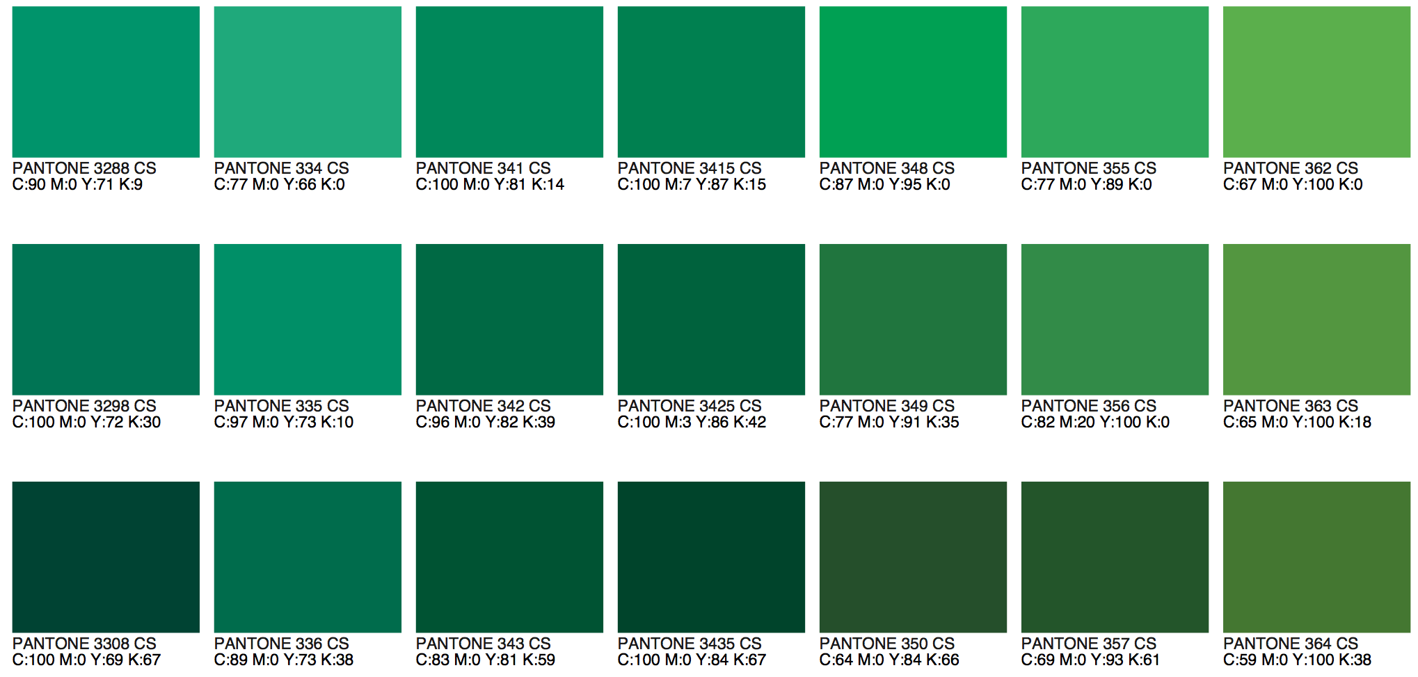 Green pantone color chart 2017 nvjuhfo Gallery