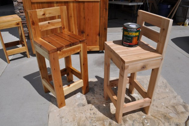 How to Make Bar Stools Sealing outdoor furniture