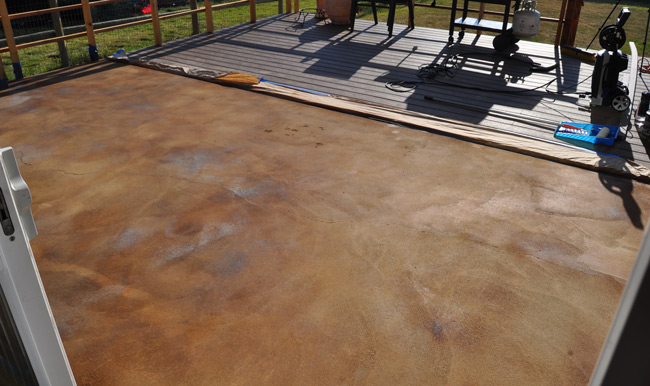 H And C Concrete Stain