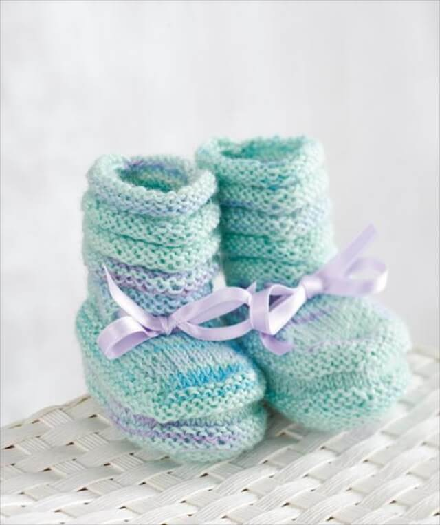 Simple Knitted Slippers