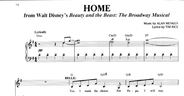 beauty and the beast chords # 16