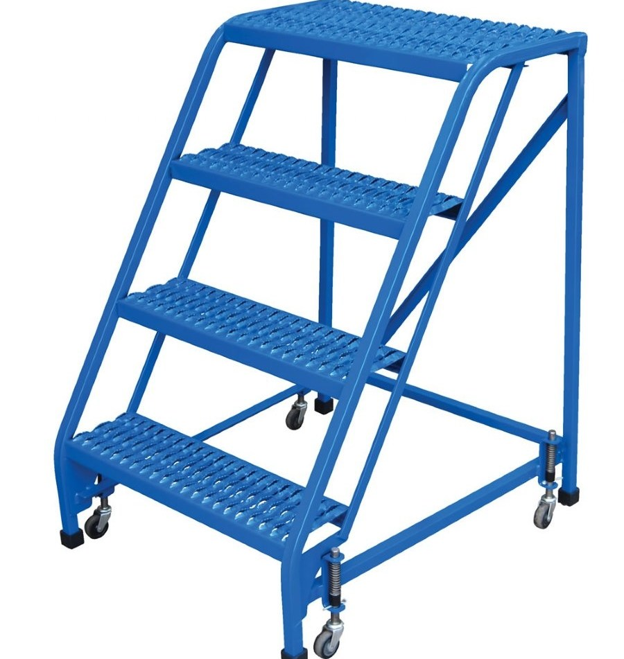 4 Step Portable Warehouse Ladders With No Handrail And | Portable Stairs With Railing