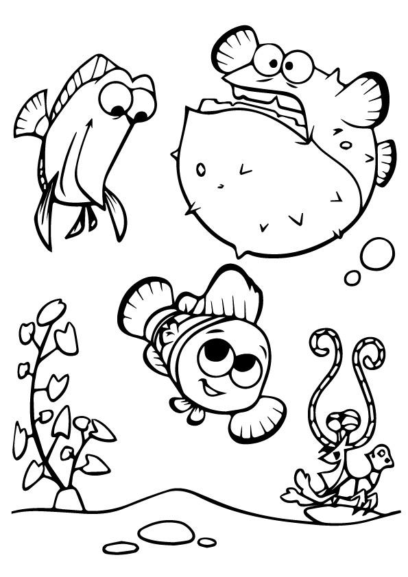 finding nemo coloring page # 66