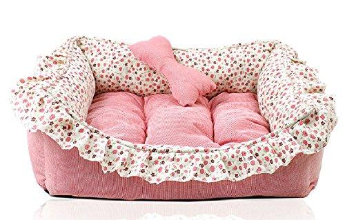 Love U Princess Floral Pet Bed Sofa House Mat For Cat Dog