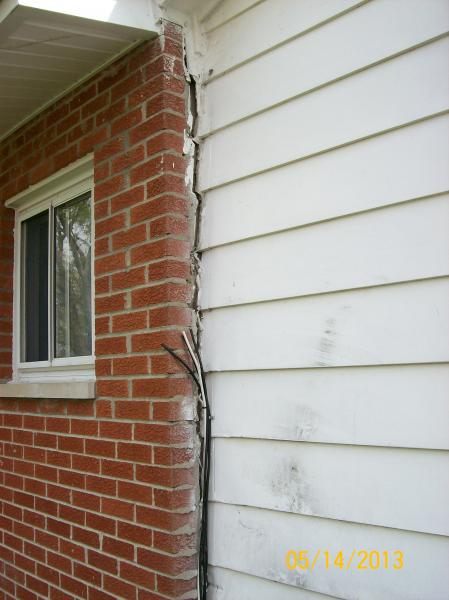 Brick Separating From Siding Is This Major