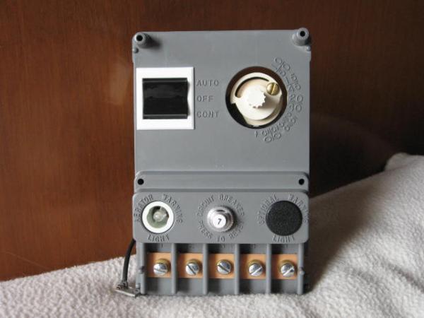 Aerator Control Livewell Panel