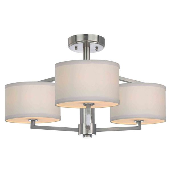 Monaco Three Light Semi Flush Ceiling Light