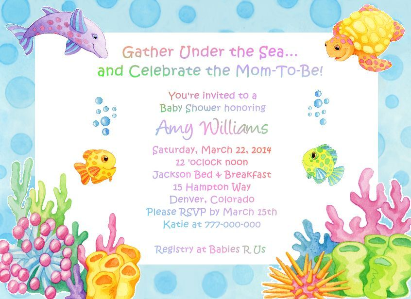 Under Sea Baby Shower Invites