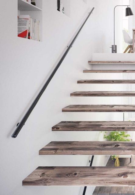 Handrail For Wall Mounting In Different Colours And Variations | Wall Handrails For Stairs | Timber | Recessed | White | Contemporary | Antique