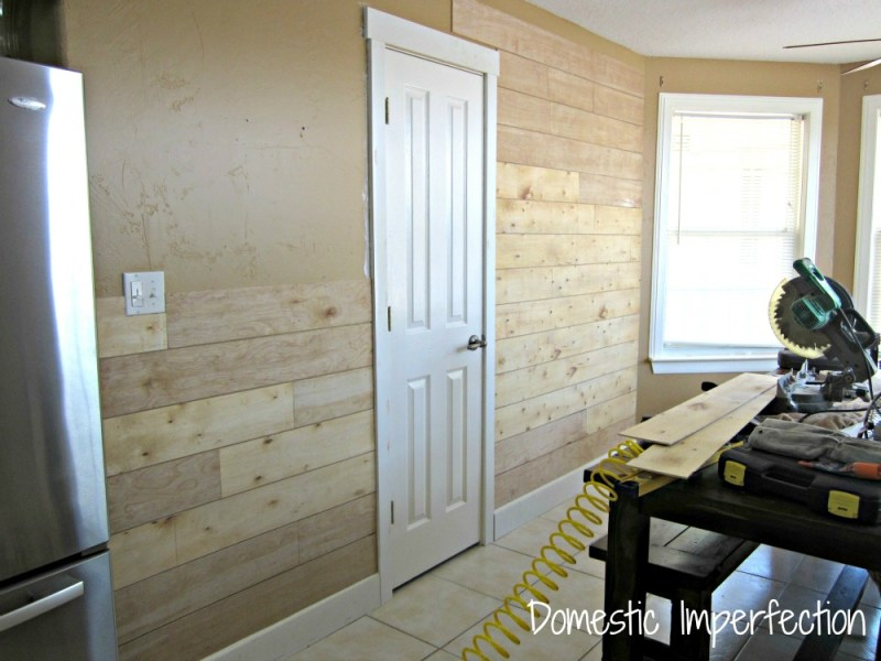 Installing Shiplap Over Drywall   Brick Flooring Samples   Domestic     budget friendly shiplap