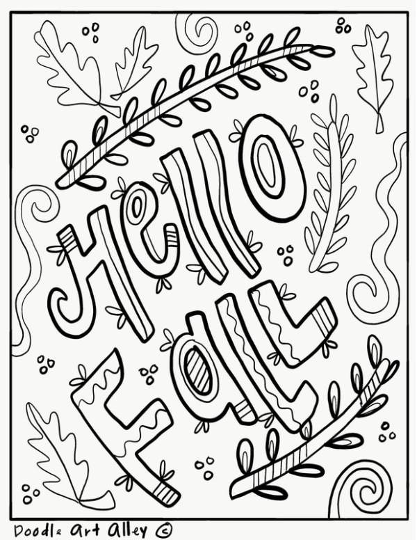 fall coloring pages # 13