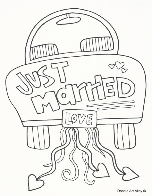 free wedding coloring pages # 7