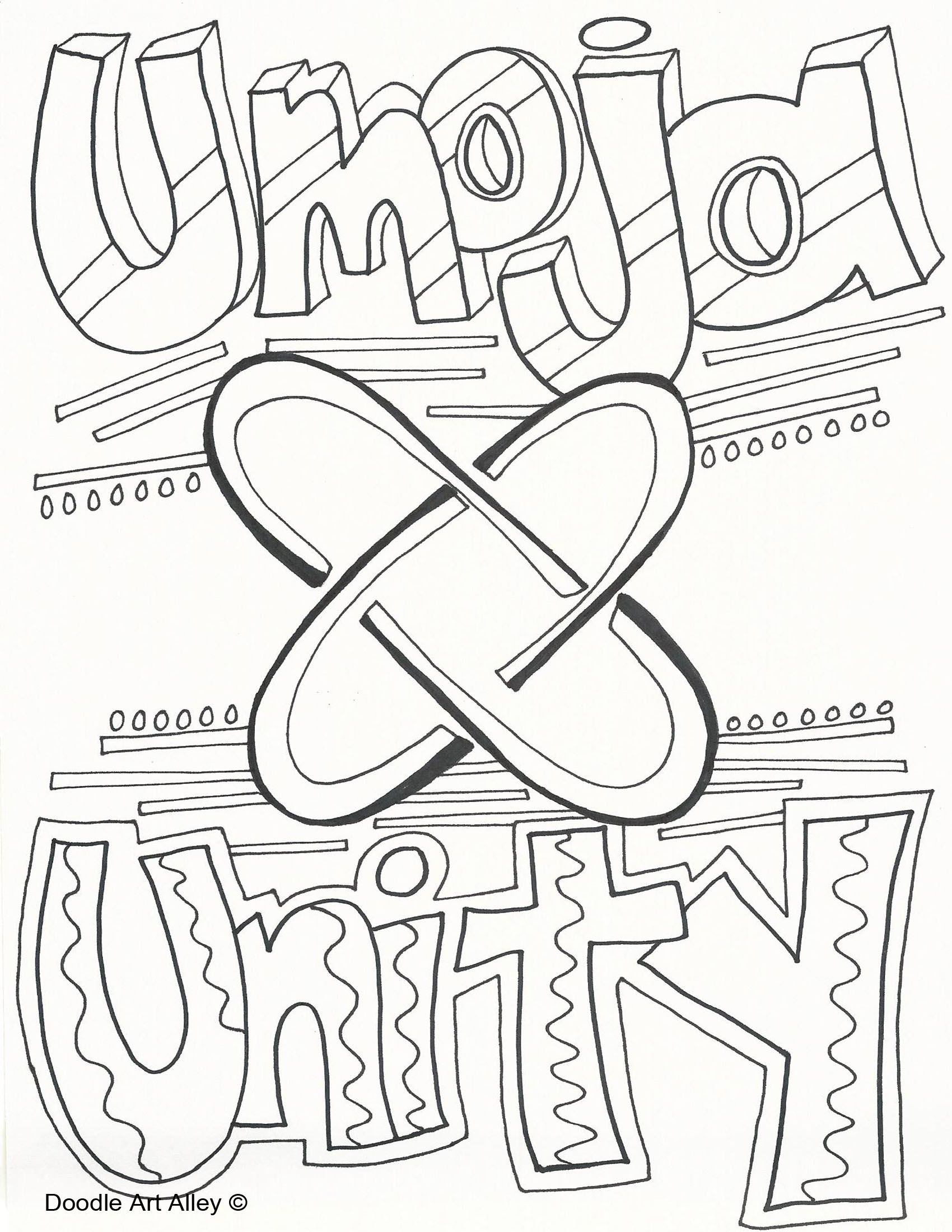 Kwanzaa Coloring Pages Doodle Art Alley